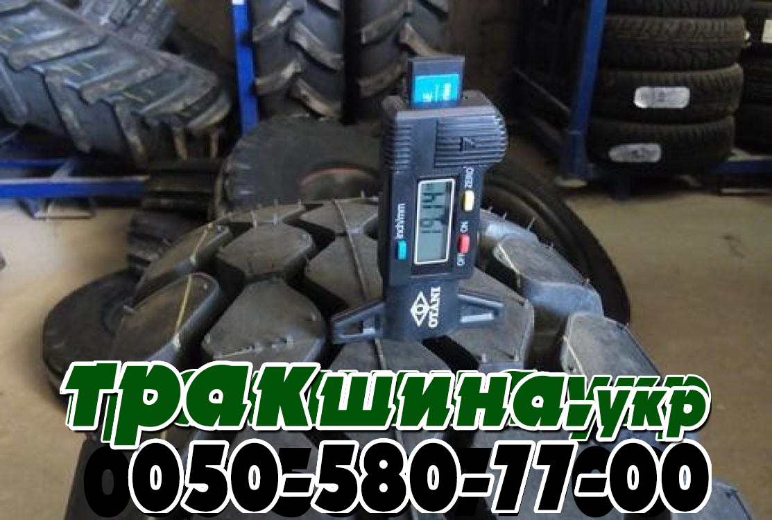 На фото показана глубина протектора грузовой шины Кама 260 508 r20