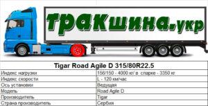 На фото показаны характеристики шины Road Agile D